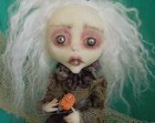 Charity mini hanging Art Doll OOAK Art Doll Lulus Apple