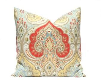 15% Off Sale Throw Pillow Cover, Latika Pillow Cover, Decorative Pillow Cover, Cushion Cover, Latika Red Blue Yellow, Pillows Same Fabric Fr