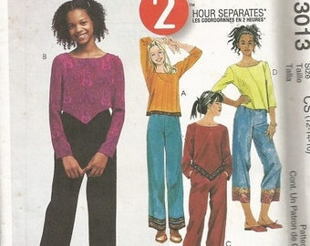 McCall's 3013  Girls 2 Hour Separates Pattern SZ 12-16