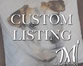 Custom Hand Painted Pet Portrait Pillow