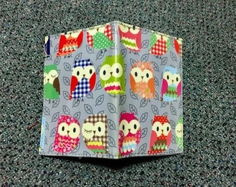 Colorful Owls Cute Vinyl Passport Cover