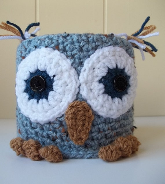 Crochet Owl Toilet Paper Cover Bath Tissue Cover Owl Toilet