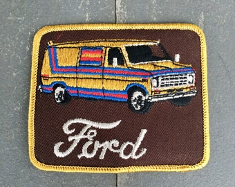 Vintage patch, vintage ford patch, ford van, vintage van patches, 70's patch