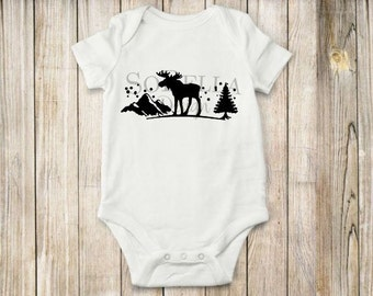 Inspired, Moose, Onesie,  bodysuit, children clothing, baby, tops,shirt