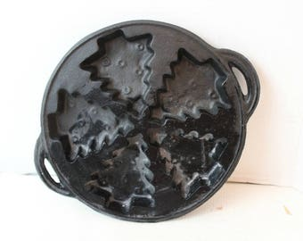 lillian vernon cast iron christmas tree pan