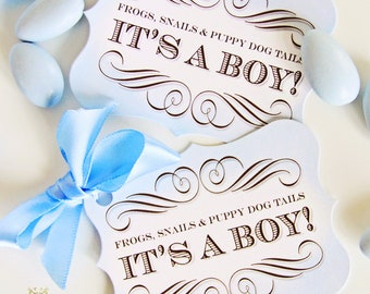 Pram Cameo Favor Tags by Loralee Lewis