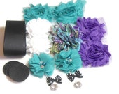 DIY Maternity Sash Kit - Pretty as a Peacock- Gender Reveal Party - Maternity Photo Shoot - DIY Bridal Sash - Baby Girl - Baby Boy