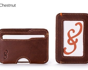 The Slim Credit Card Wallet - Chestnut