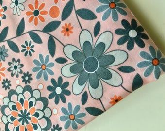 Sale! Silent Cinema Sunrise Orange Quilting Fabric by Jenean Morrison, OOP, HTF