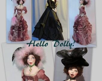 "Cloth Doll Pattern ""Hello Dolly!"""