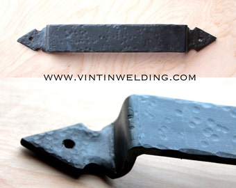 Hand Forged Iron Arrow Head Ends Hammered-Style Drawer Pull or Towel Bar by VinTin