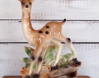 Vintage Midcentury 1950's Lane and Co Ceramic Deer Planter