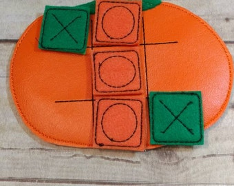 Tic Tac Toe, Pumpkin Tic Tac Toe, Tic Tac Toe Game, Game, Travel Game, Pumpkin Tic Tac Toe Game,  Kids Game, Birthday Gift