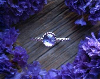 Sterling Silver Amethyst Ring Size 7 Purple Gemstone 925 Jewelry February Birthstone