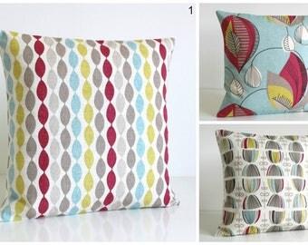 Red Cushion Cover, Red Pillow Sham, 10x10 Pillow Cover, Cotton Toss Pillows, Pillowcase, Pillow slip - Raspberry Collection