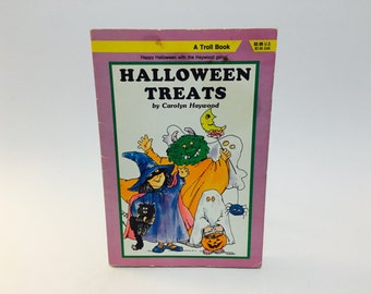 BIRTHDAY SALE Vintage Children's Book Halloween Treats by Carolyn Haywood 1987 Softcover