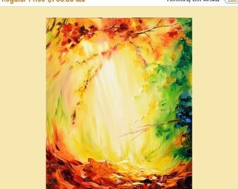 70%Off & Free Shipping Painting ORIGINAL Colorful painting impasto painting Modern painting bright colors red, orange  painting ready to han