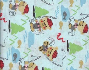 Kids Time Bears Gone Fishin' by Choice Fabrics