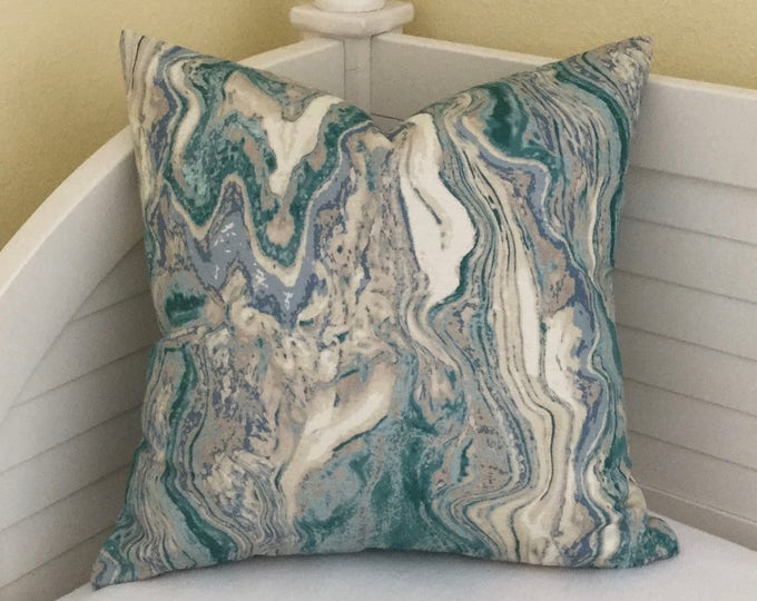 Eucalyptus Marble Designer Pillow Cover - Square, Lumbar and Euro Sizes
