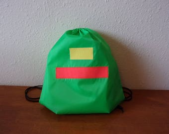 Pokemon Ash Trainer Original Series Drawstring Backpack Green with stripes