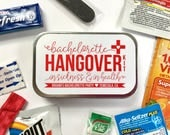 Bachelorette Hangover Kit, Bachelorette Survival Kit, Bachelorette Party Favor, Survival Kit, Bachelorette Recovery Kit, UNFILLED TINS
