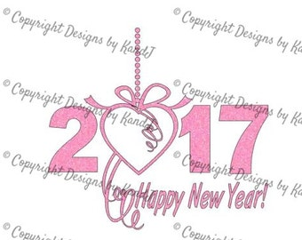 Happy New Year 2017 SVG New Years 2017 SVG File New Year svg  Digital cut file SVG- Instant Download