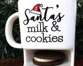 40% OFF SALE Santas Cookies - Santas Milk - Cookies for Santa - Christmas Mug - Santa - Santa Claus - Christmas Gift - Cookie Mug - Christma