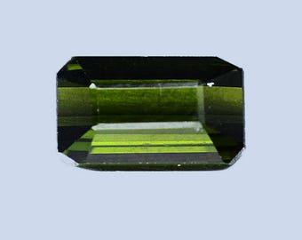 TOURMALINE (34069) * * * Emerald Cut 8.1 x 4.6mm Tourmaline - Faceted
