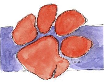 Orange Tiger's Paw print
