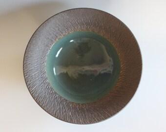 Pottery Bowl, pottery platter, wheel thrown, stoneware bowl, ceramics and pottery, ceramics by Kazem Arshi