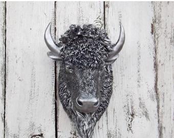 Faux Buffalo Head Etsy