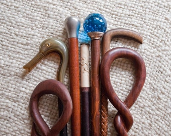 Antique Walking Stick, Carved Pattern, Hand Made