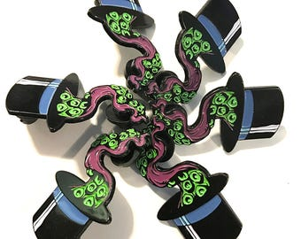 Dapper Tentacle - Soft Enamel Pin - Day Of The Tentacle Version