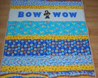 BOW WOW baby quilt