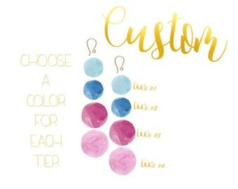 Bon Drop Earrings // 4 tier with a hook // Multiple Color Options // Custom Bon Drops // Choose your Colors