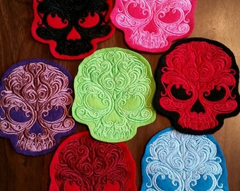 Gothic Skull patch,skeleton,Baroque
