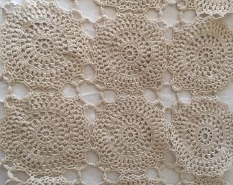 A vintage, small, sweet hand made crochet/ lace tray cloth