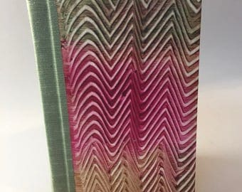 Handmade Sketchbook, Journal with paste paper covers