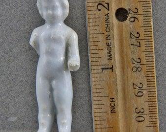 Vintage Antique Excavated German Miniature  Porcelain  Doll  1860