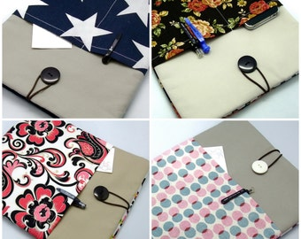 READY to ship - BIG Sale - iPad Air case 2, iPad cover, iPad sleeve with 2 pockets, PADDED (GP5)