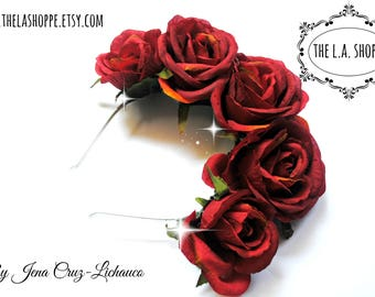 Red Roses Queen Music Festival Flower Crown