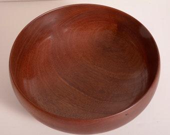 Wood Bowl, Turned Wood Bowl, Sapele, Serving Bowl, Handturned