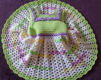 Spring Is In The Air. A Lovely,Handmade Baby Girl Dress