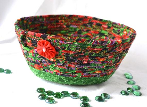 Elegant Holiday Decoration, Handmade Decorative Bowl, Soft Pottery Gift Basket, Homemade Christmas Candy Bowl, Mail Bin  Basket