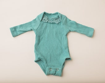 Newborn Photography Bodysuit Set- Turquoise
