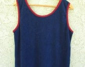 mens womens 1970s terry cloth tank