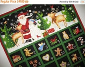 Advent Calendar Christmas with Santa in Winter forest scene