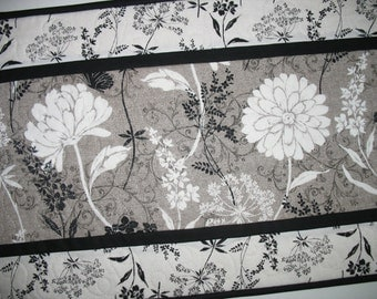 Elegant Table Runner, floral, quilted, fabric from Windom