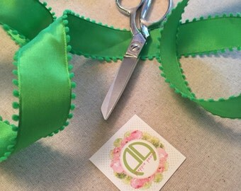Pom Ribbon in Green by the yard