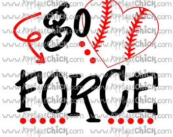 Go Force Baseball SVG Clipart DXF